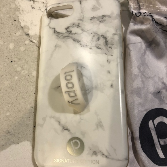 low priced d8648 99d1a Loopy Case for iPhone 7 or 8 White Marble